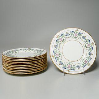 Set (12) Mintons Adam style luncheon plates