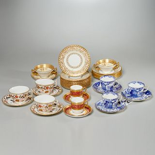 Minton & Royal Crown Derby china cups & saucers