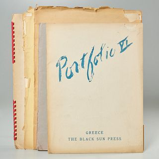 "Black Sun Press, (5) issues ""Portfolio"""