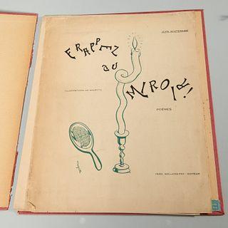 [Magritte] (2) vols, Mesens, Scutenaire, signed