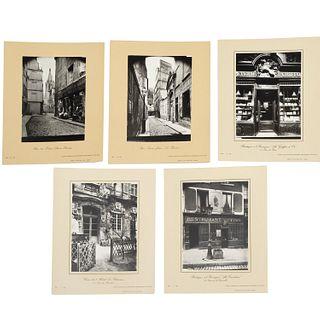 Eugene Atget, (5) photographs
