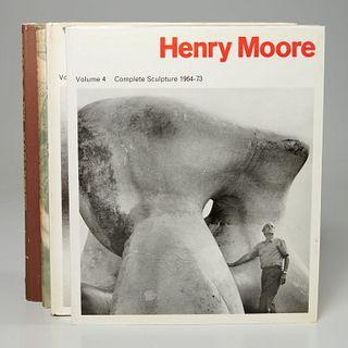 (4) Vols Henry Moore Complete Sculpture