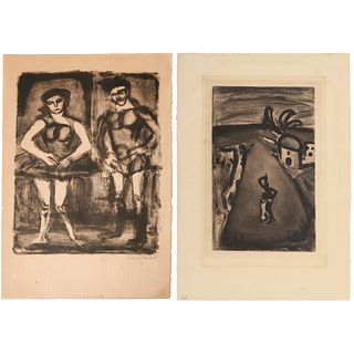 Georges Rouault, two lithographs, 1 signed