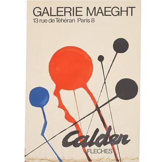 """Alexander Calder, """"Fleches"""" poster"""