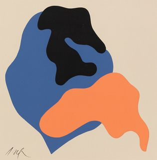 Jean Arp (French/German, 1886-1966) Untitled Compositions (a pair of works), 1963