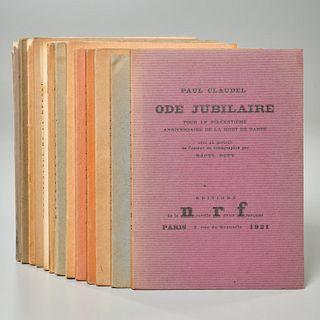 (13) Vols. Nouvelle Revue Francaise 1921-1928