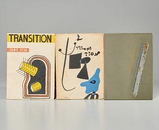 [Duchamp, Miro, Leger] Transition, (3) issues