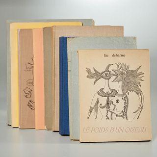 Group (9) vols. art & poetry