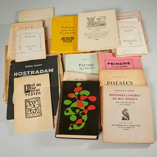 Box lot French modernist poetry