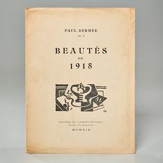 [Juan Gris] Paul Dermee, Beautes de 1918, signed