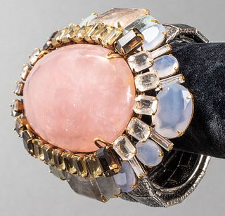 Iradj Moini Rose Quartz & Aquamarine Bangle