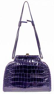 Fendi Purple Crocodile Handbag