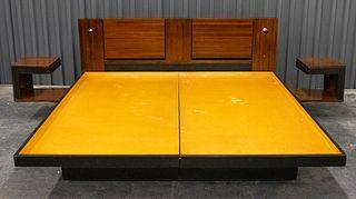 Vladimir Kagan Platform Bed And Nightstands