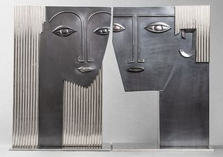 Hagenauer Attrib. Art Deco Bust Sculptures, Pair