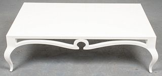 Christopher Guy White Lacquered Coffee Table