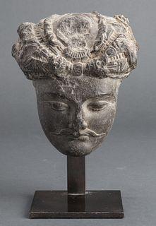 Gandhara Region Carved Stone Bust
