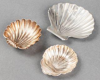 Silver Seashell Dishes incl. Missiaglia, 3