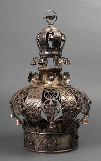 Judaica Sterling Silver Torah Crown