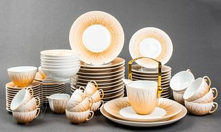 JL Coquet Limoges Porcelain Part Dinner Service,77