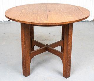 Stickley Mission Oak Breakfast / Tea Table