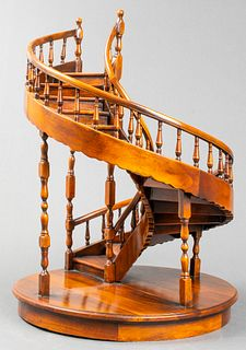 Architectural Maquette Model Of A Spiral Staircase