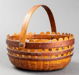 "Rare Nantucket ""Double Lollipop"" Basket"