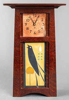 Schlabaugh & Sons Art & Crafts Mantel Clock