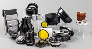 Assorted Camera Equipment for Leica, Rollei, etc.