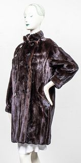 Yves Saint Laurent Brown Mink Fur Coat