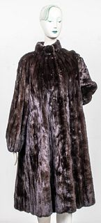 Jerry Sorbara Brown Mink Fur Coat