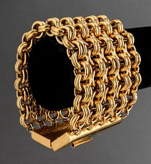 Karl Lagerfeld Five-Row Gold-Tone Chain Bracelet
