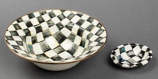 Mackenzie-Childs Courtly Check Enamel Bowls, 2