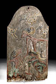 Early 19th C. Javanese Wood Kris Display Board