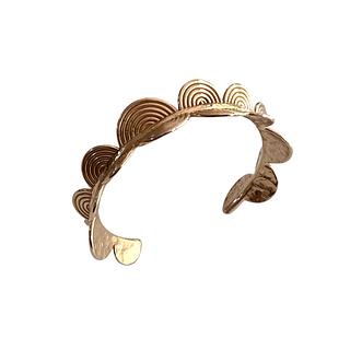 Semicircles Bronze Cuff