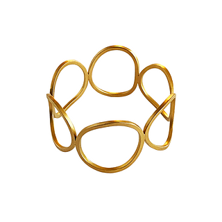 Gold-plated Pebbles Bangle