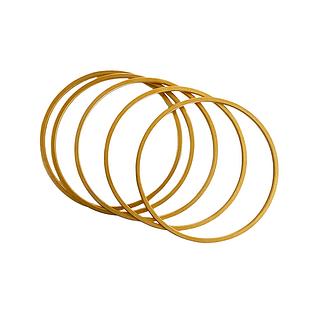 Gold-plated Minimalist Bangles