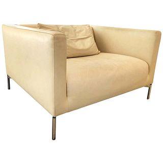 "Piero Lissoni ""Twin"" Leather Chair for Living Divani"