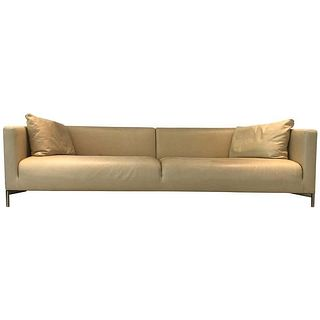 "Piero Lissoni ""Twin"" Leather Sofa for Living Divani"