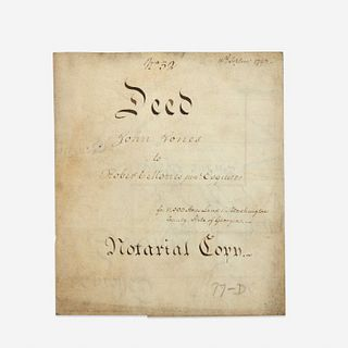 [Americana] [Morris, Robert] Biddle, Clement, Signed Land Deed