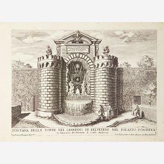 [Architecture] Falda, Giovanni Battista, Le Fontane delle Ville di Frascati; Le Fontane ne' Palazzi e ne' Giardini di Roma...