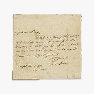 [Autographs & Manuscripts] Burke, Edmund, Autograph Letter, signed