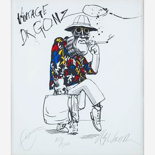 [Counter-Culture] Steadman, Ralph, and Hunter S. Thompson, Vintage Dr. Gonzo