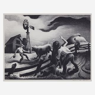 [Prints] Benton, Thomas Hart, Photographing the Bull