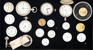 Pocket Watches, Movements and Parts