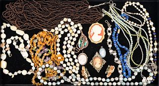 Cameos and Beaded Necklaces