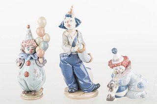 Lladro Clown Figures