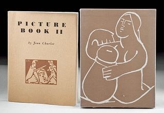 """Signed Jean Charlot """"Picture Book II"""" w/ Case, 1973"""