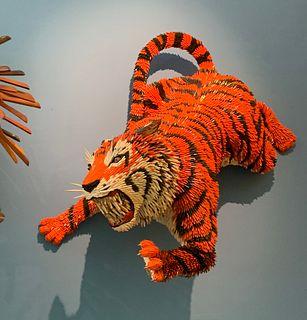 Tiger Pouncing