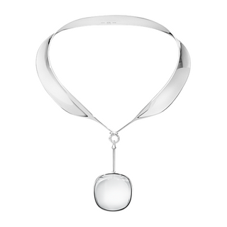 Georg Jensen Dew Drop Neck Ring #160 & Rock Crystal Pendant #132