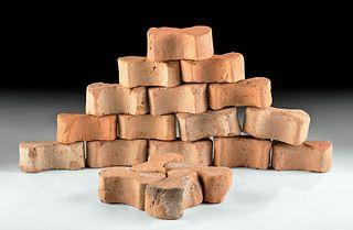 "Lot of 20 Roman Terracotta ""Dog Bone"" Paving Tiles"